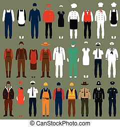 profession, uniforme, gens