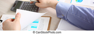 Professional Accounting Finance Budget Concept
