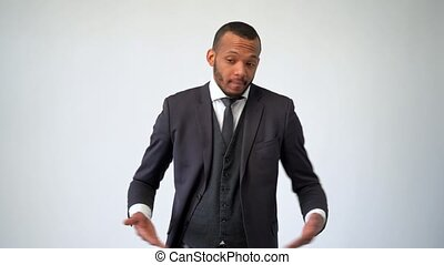 professional african-american business man - worried and confused