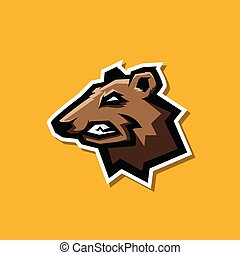 professional angry bear logo for a sport team
