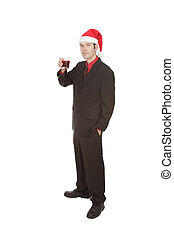Professional at Christmas Party Toasting
