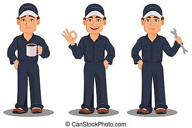 Professional auto mechanic in uniform