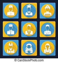 Professional avatar icons set - Avatar profile portraits...