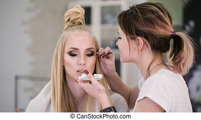 Professional Beauty judge and stylist at work. For a...