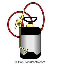 professional bug sprayer, one an exterminator might use