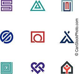 Professional business logo icon set