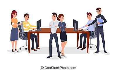 Professional business team vector illustration