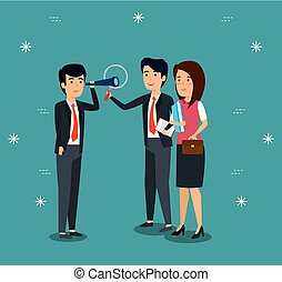 professional businesspeople cooperation strategy plan