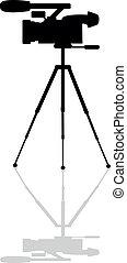 professional camera on a tripod - Icon professional camera...