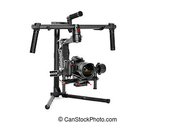 Professional camera set on a 3-axis gimbal