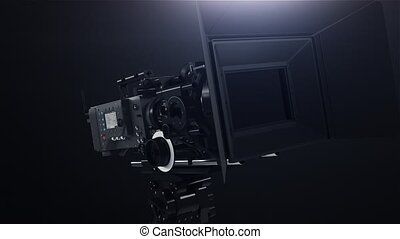 Professional camera with rig hd