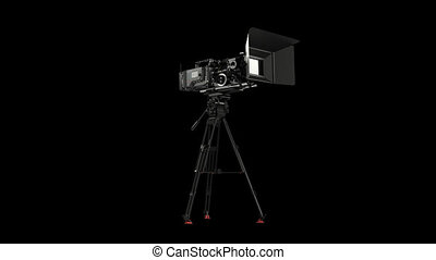 Professional camera with rig with alpha chanel hd