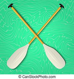 Professional canoe oars