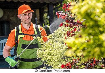 Professional Caucasian Gardener Insecticide Garden Trees