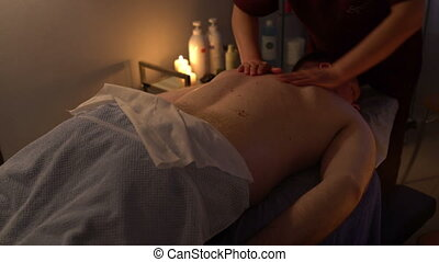Professional Chinese massage male back