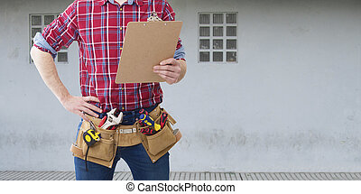 professional construction tools and plans