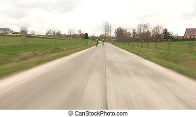Professional cyclists training