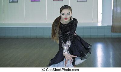 Professional dancers dancing in ballroom. 4k