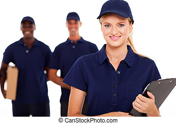 professional delivery service staff