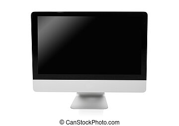 professional desktop pc isolated on white background