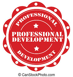 Professional Development - Label with text Professional...