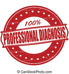 Stamp with text professional diagnosis inside, vector ilustration