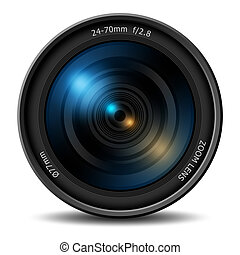 Professional digital camera zoom lens - Creative abstract 3D...
