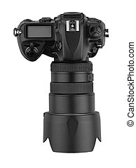 professional digital  Lens Reflex-top view (clipping path)
