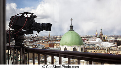 Professional digital video camera. - professional camcorder ...