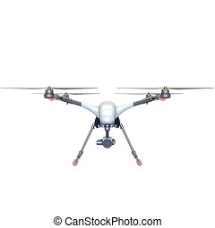 Professional Drone isolated on background. 3d illustration