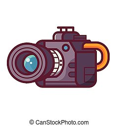 Professional DSLR Camera Icon