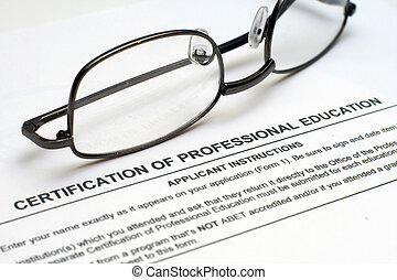 Professional education form