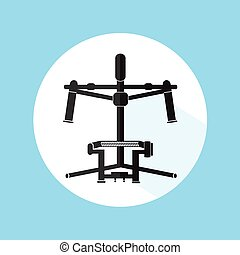 Professional Equipment Gimbal Camera Stabilizer Vector Illustration