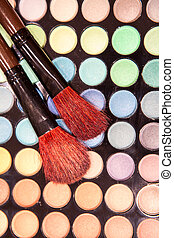 Professional eye shadow make-up brushes