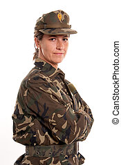 Professional female soldier
