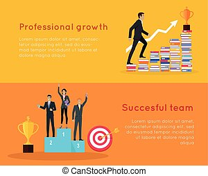 Professional Growth and Successful Team Banners.