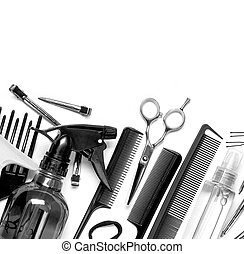 hairdresser tools - Professional hairdresser tools, isolated...