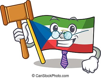 Professional Judge flag equatorial guinea Scroll presented ...