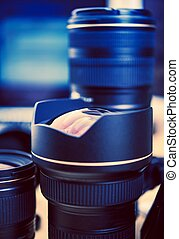 Professional Lenses Closeup