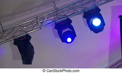 Professional Lighting Equipment For the Concert, the Light...