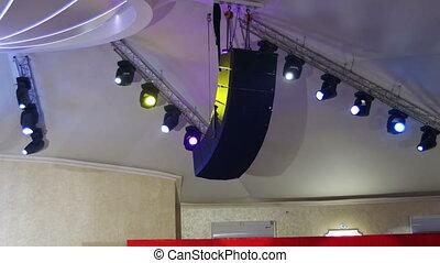 Professional Lighting Equipment For the Concert, the Light...