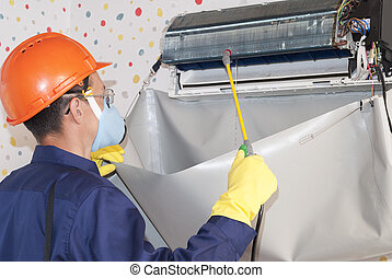 professional maintenance of air conditioners