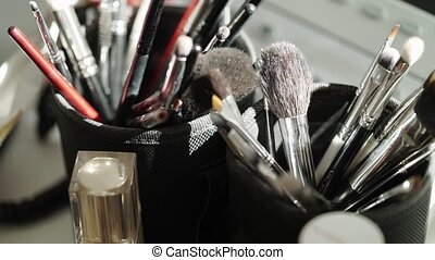 Professional makeup brushes for cosmetics