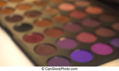 Professional makeup eyeshadows palette, from blurred to...