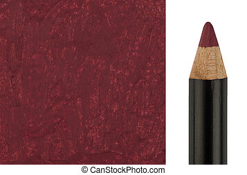 Makeup pencil with sample stroke