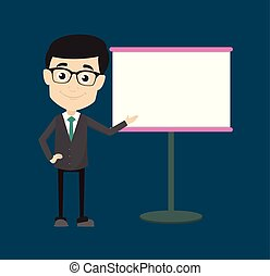 Professional Male - Showing on White Board