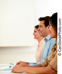 Professional man listen during a meeting