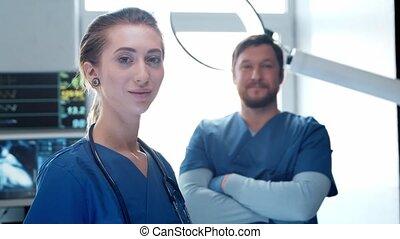 Professional medical doctors working in emergency medicine. ...