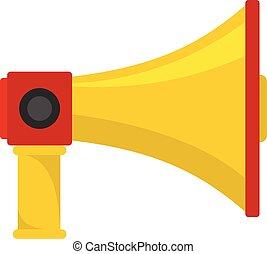 Professional megaphone icon, cartoon style