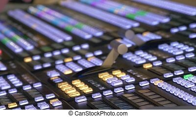 Professional modern broadcasting console.